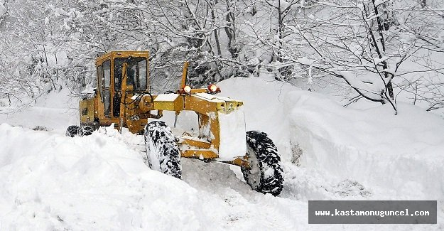 Kastamonu'da 18 köy yolu ulaşıma kapandı