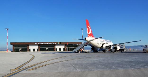 Kastamonu Havalimanında yolcu artışı yaşandı