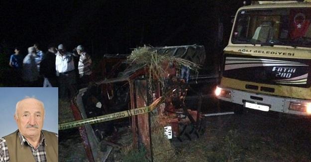 Kamyon ile traktör çarpıştı: 1 ölü, 2 yaralı