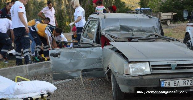 Kastamonu'da otomobil takla attı: 4 yaralı