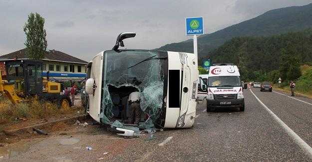 Kastamonu-Karabük yolunda kaza: 28 yaralı