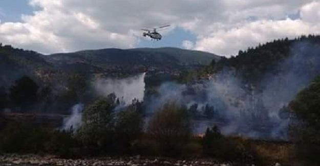 Kastamonu'da yangın: 4 samanlık ve..!