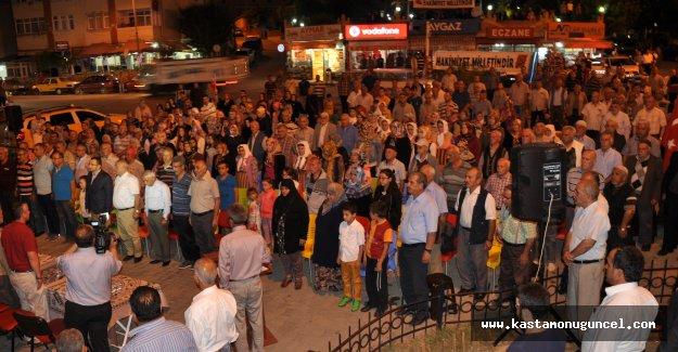 Pınarbaşı'da demokrasi nöbeti devam ediyor