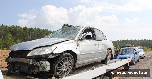 Tatile giden aile kaza geçirdi: 4 yaralı