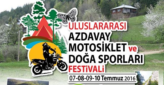 Uluslararası Motosiklet Festivali Azdavay'da
