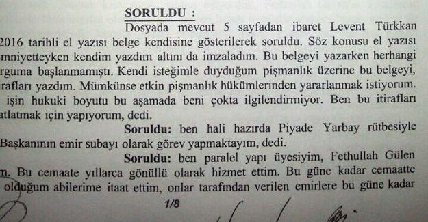 """Yaver Türkkan: """"FETÖ mensubuyum"""""""