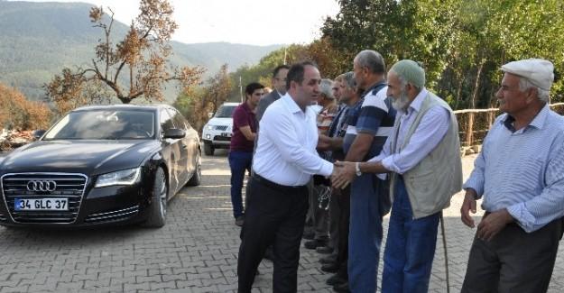 Milletvekili Demir, yangın bölgesini inceledi