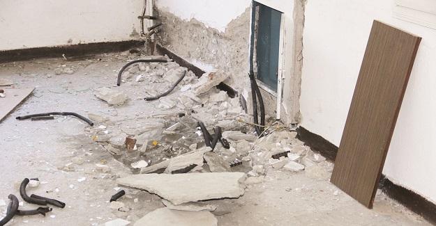 Boşaltılan okul tinercilerin ve balicilerin yuvası oldu
