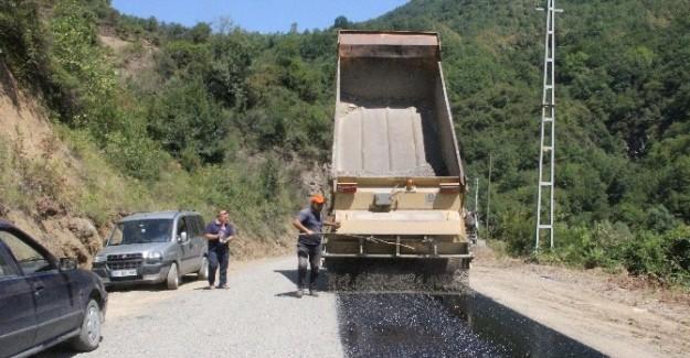 Bozkurt'ta 24 km. köy yolu asfaltlandı