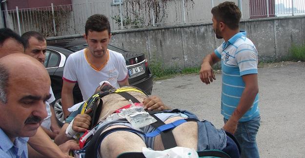Direkten düşen işçi ağır yaralandı