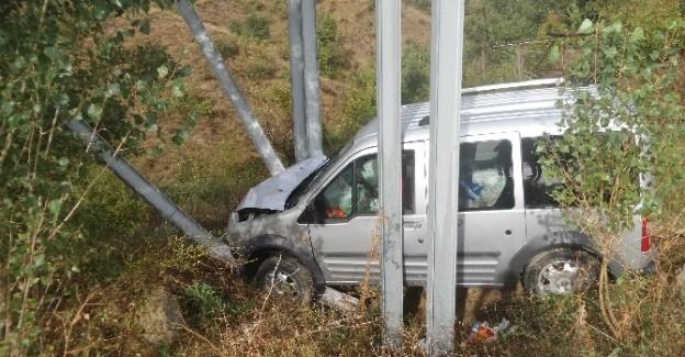 Kazaya bakarken kaza yaptı: 2 yaralı