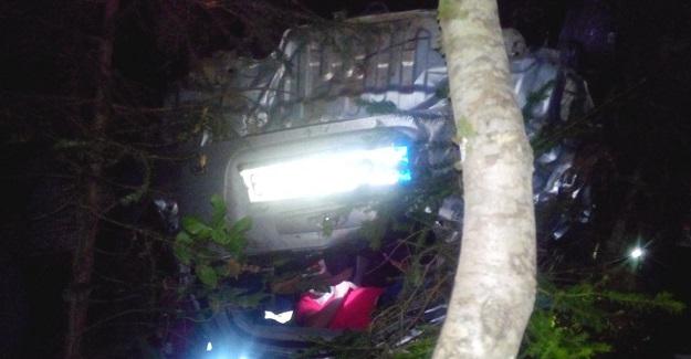 Otomobil uçuruma uçtu; 1 ölü, 3 yaralı