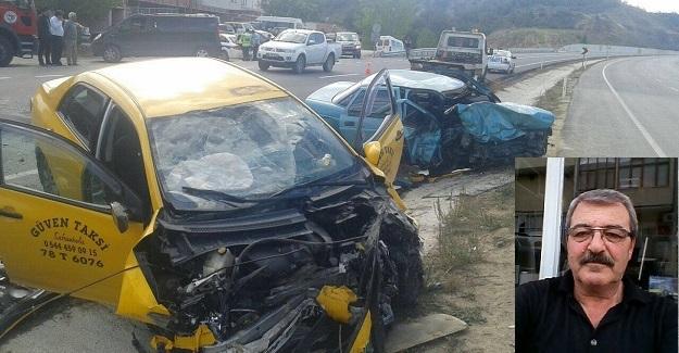 Ticari taksi ile otomobil çarpıştı: 1 ölü, 2 yaralı