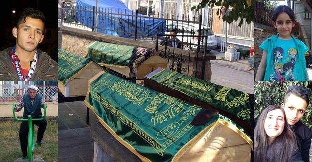 4 cenaze, yan yana toprağa verildi