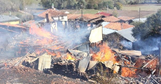 Kastamonu'da yangın: 2 ev küle döndü