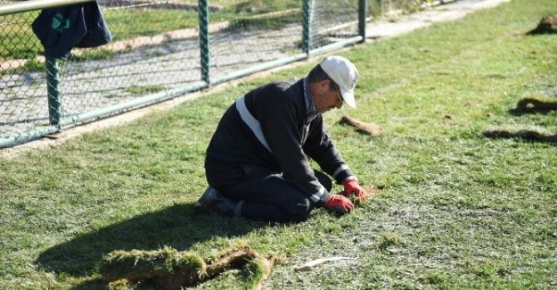 İsmail Dikmenli Tesisleri'nde çim saha tamamlandı