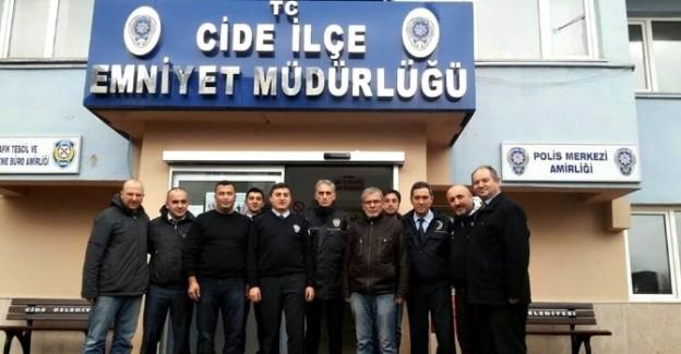 Beşiktaşlılardan, Emniyet Müdürlüğüne anlamlı ziyaret