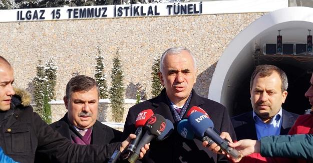Ilgaz Tüneli, 15 Aralık'ta açılış yapılacak hale gelecek