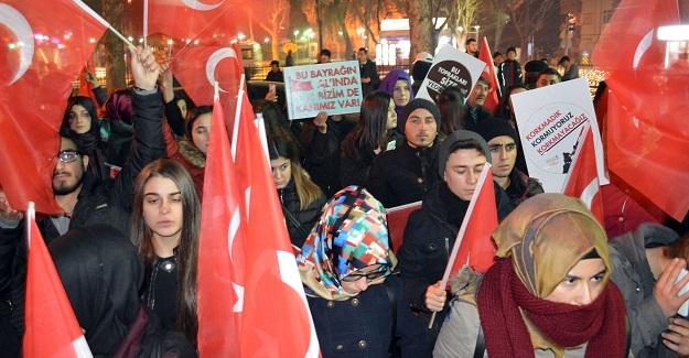 Kastamonu'da terör protesto edildi