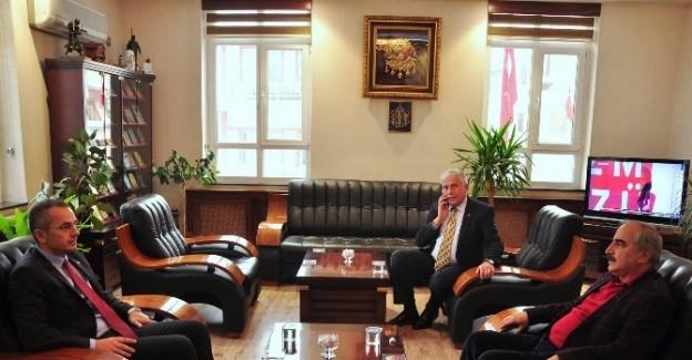 Kaymakamı Pişkin'den Başkan Şahin'e ziyaret