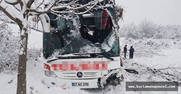 Sinop'ta otobüs kazası: 5 ölü, 25 yaralı