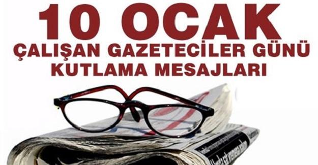 10 Ocak Çalışan Gazeteciler Günü kutlama mesajları
