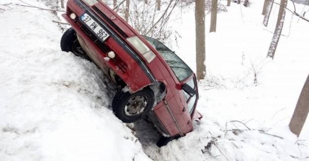 Buzlu yol kazaya neden oldu