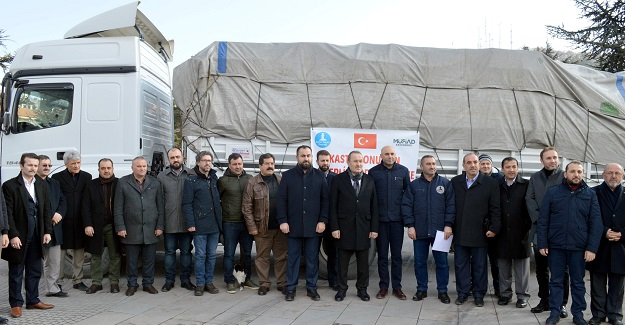 Deniz Feneri Derneği ile MÜSİAD'ın yardım TIR'ı, Halep'e uğurlandı