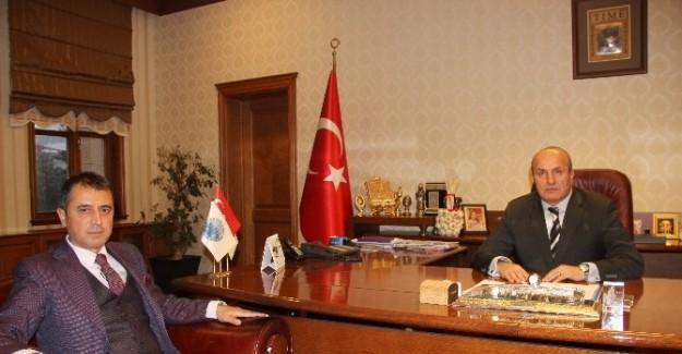 Kaymakam Yüksel'den Başkan Arslan'a iadeyi ziyaret