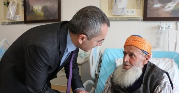 Kaymakam Pişkin Devlet Hastanesini ziyaret etti