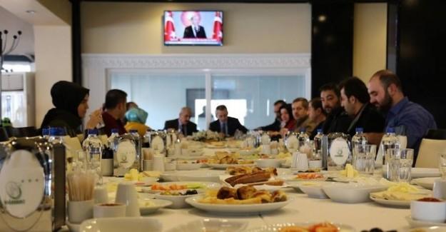 Kaymakam Pişkin, gazetecilerle kahvaltıda buluştu
