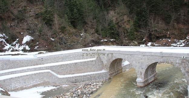 Tarihi İkiçay Köprüsü restore edildi