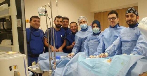 Yeni Devlet Hastanesi'nde ilk anjiografi yapıldı