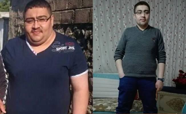 Kilolarıyla hayatı kararan genç 3 ayda 60 kilo verdi