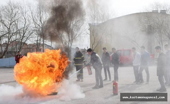 Saime İnal'da yangın tatbikatı