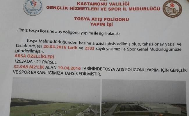 Tosya'ya Trap Atış Poligonu yapılıyor