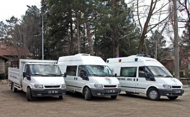 Araç Belediyesi'ne hibe edilen araçlar hizmete girdi