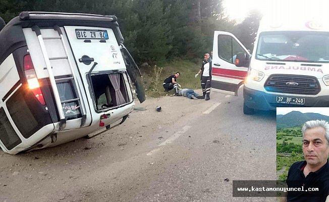Yoldan çıkan otomobil takla attı: 1 ölü