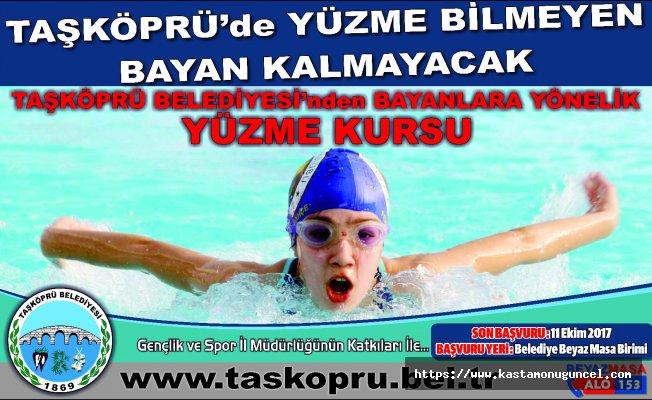 Bayanlara yönelik ücretsiz yüzme kursu açılıyor