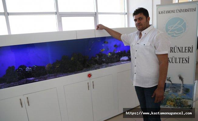 Kastamonu Üniversitesinde okyanus akvaryumu oluşturuldu