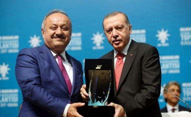 Cumhurbaşkanı Erdoğan'dan başkan Babaş'a ödül!
