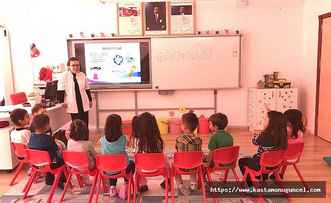 Abana'da öğrencilere hijyen eğitimi