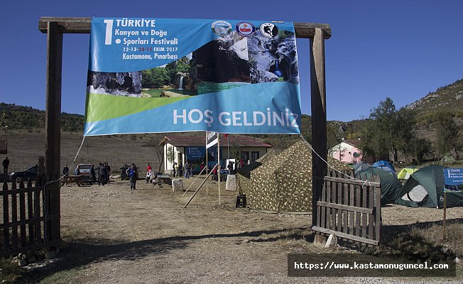 Kastamonu'da 1. Türkiye Kanyon ve Doğa Sporları Festivali başladı