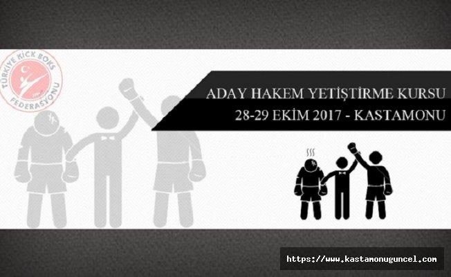 Kastamonu'da Kick Boks Aday Hakem Kursu!