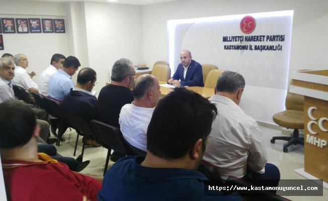 MHP Kastamonu Teşkilatı İlçe Başkanları toplantısı yapıldı