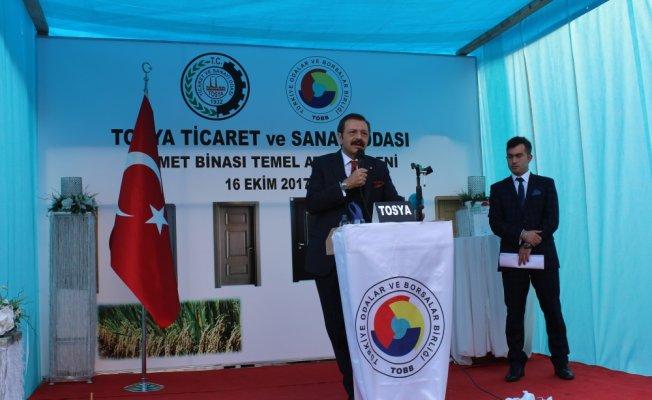 TOBB Başkanı Hisarcıklıoğlu Tosya'da!