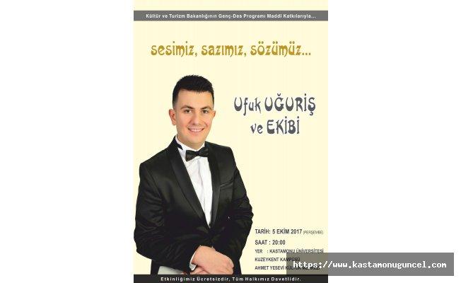 TRT Sanatçısı Ufuk Uğuriş, konser verecek