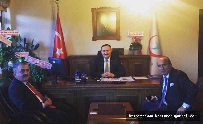 Arslan'dan İl Sağlık Müdürü Yazı'ya hayırlı olsun ziyareti