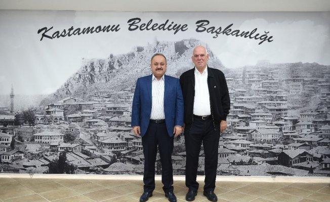 Hentbol Federasyon Başkanı Bilal Eyüboğlu, Başkan Babaş'ı ziyaret etti