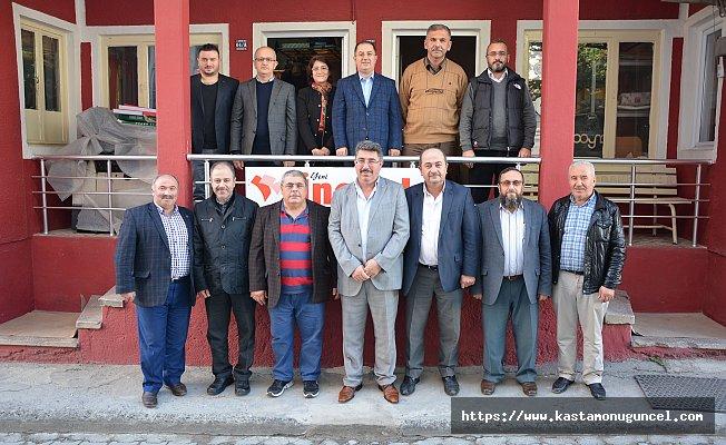 AK Parti İnebolu İlçe Teşkilatından yerel gazeteye ziyaret